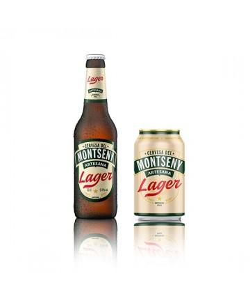 Cervesa del Montseny Lager Ampolla 33 cl. pack 4 unitats